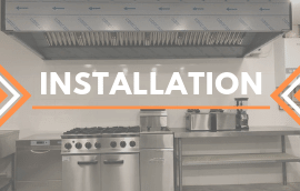 commercial extractor fan and hood canopy installation