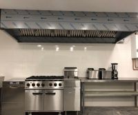 extractor canopy for commercial kitchen